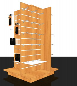 Displays Slatted Gondola 4-sided
