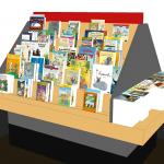 Planogramm Buchhandel Kinderbuch Treppe Pyramide