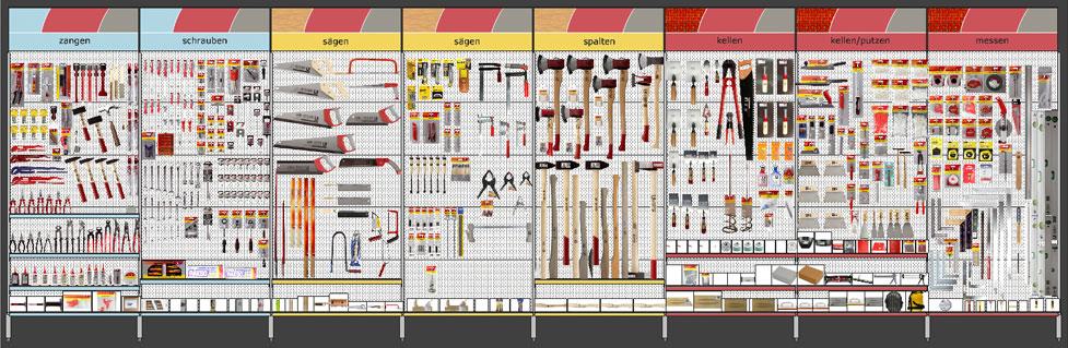 Spacemanagement Planogramm planogram